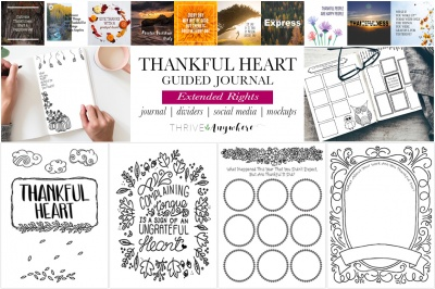 Thankful Heart Guided Journal Extended Rights
